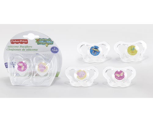 fisher price 2pk pacifiers animals of the rainforest baby shower