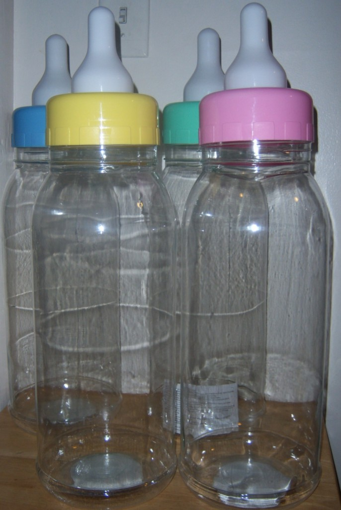 new baby shower empty bottle bank party favor baby shower game