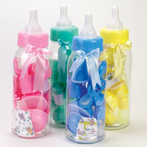 details about new 22 baby shower large bottle bank party favor blue