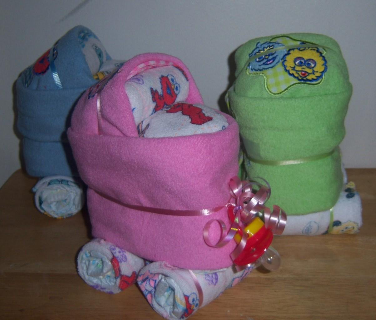 street mini diaper bassinet baby shower elmo big bird cookie monster