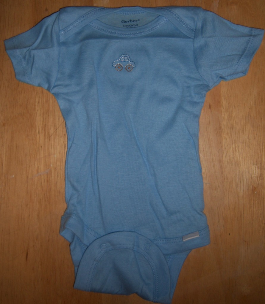 New Gerber Single Onesie Baby Shower Pink Blue Dot Flower Car