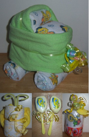 sesame street baby shower favors elmo big bird bassinet lollipop