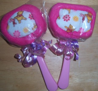 Winnie The Pooh Washcloth LOLLIPOPS, Baby Shower, Party Favor