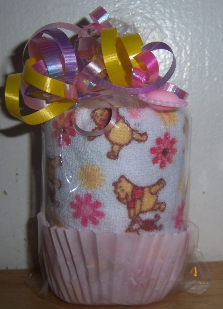 details about winnie the pooh washcloth cupcake baby shower favor