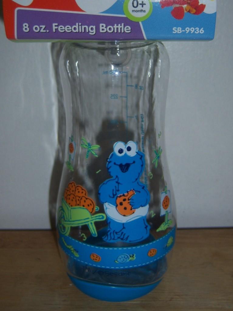 SESAME-STREET-BEGINNINGS-8oz-BOTTLE-Elmo-Cookie-Monster-Big-Bird-Baby-Shower