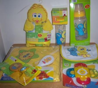 Baby shower sesame street gift set diaper - Sesame street baby shower ...