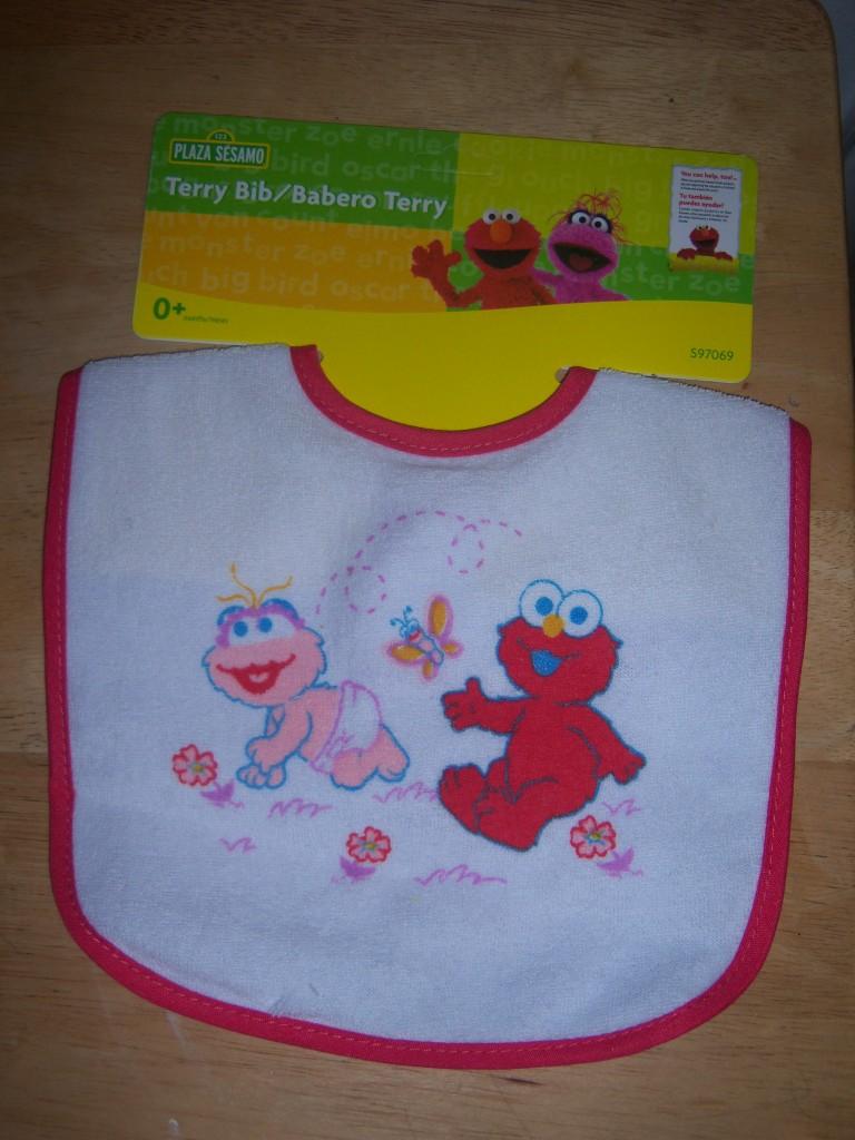 sesame street terry bib elmo cookie monster big bird baby shower