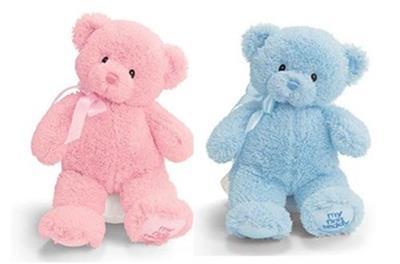 New Baby Gund MY1ST Teddy Blue or Pink Bear Baby Shower Diaper Cake