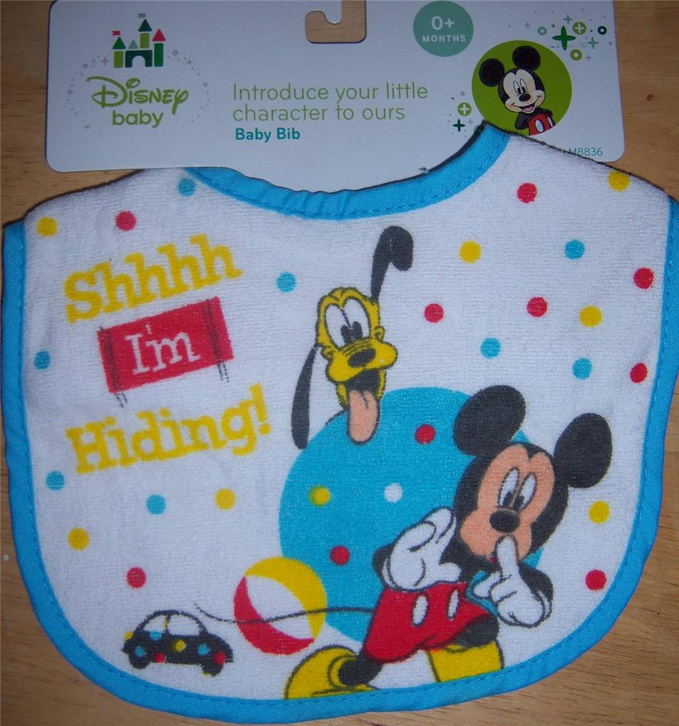 disney mickey mouse minnie mouse or pluto bib baby shower diaper