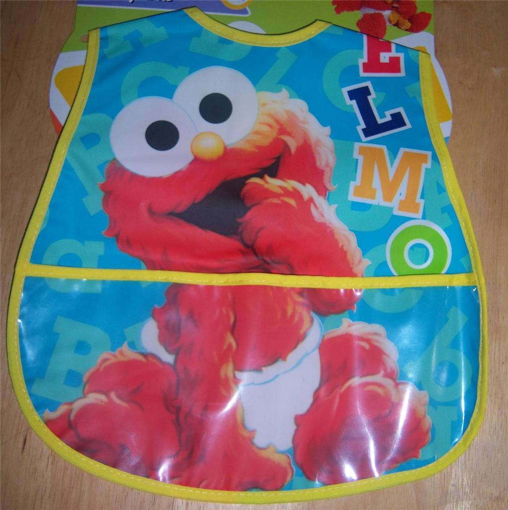 new sesame street pocket bib elmo cookie monster baby shower ebay