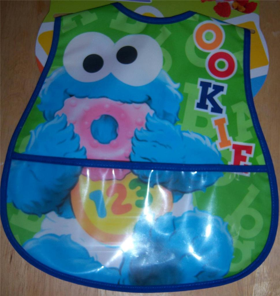 about new sesame street pocket bib elmo cookie monster baby shower