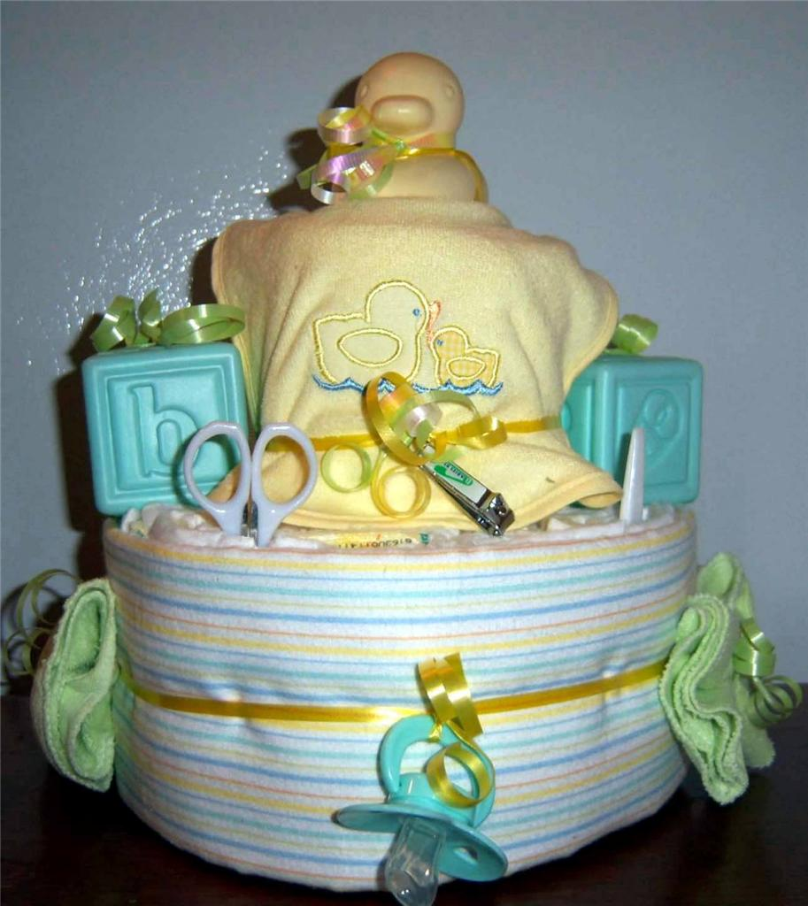 Baby Shower 2 Tier Duck Diaper Cake Pink Blue Or Neutral Ebay