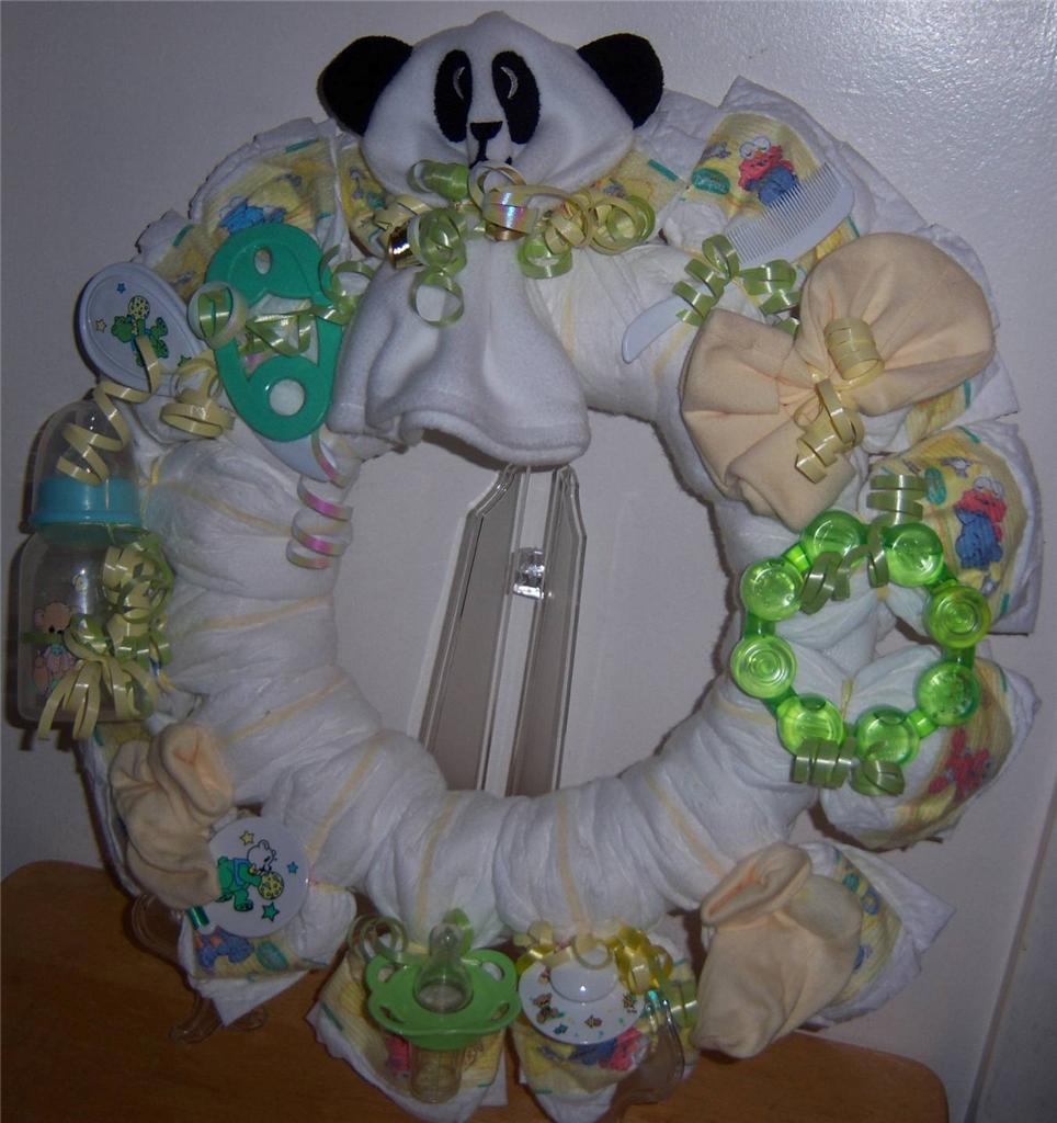 baby shower bear diaper wreath ebay