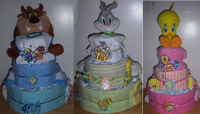 Baby Looney Tunes Baby Shower Baby Shower 3 Tier Looney