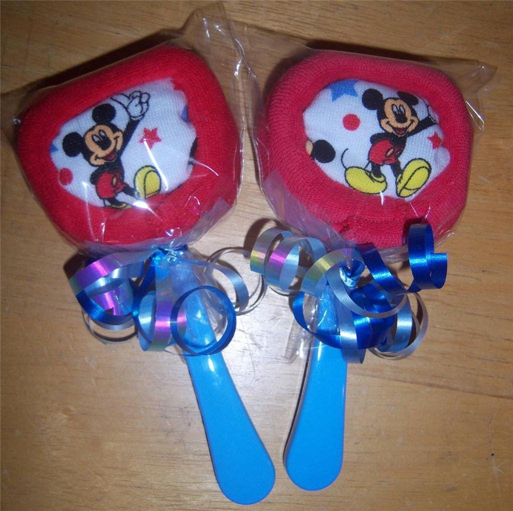 mouse or minnie mouse washcloth lollipops baby shower party favor
