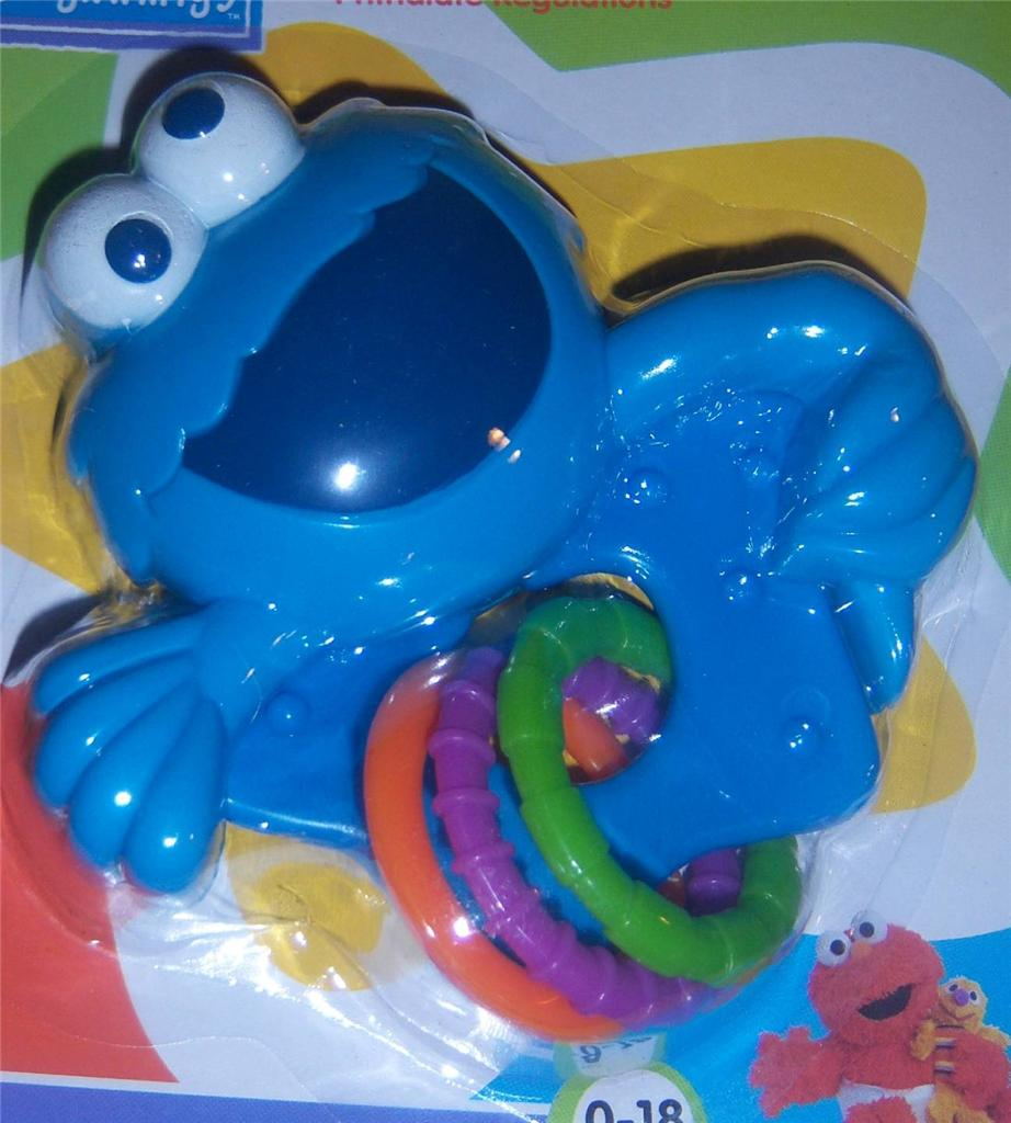 Sesame Street Rattle With Rings Teether ELMO COOKIE