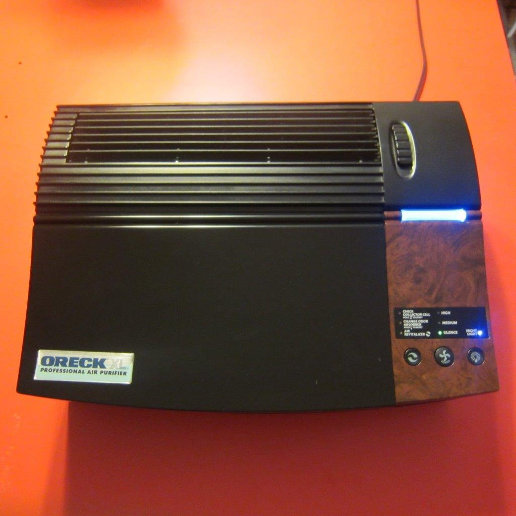 oreck air purifier xl how to clean