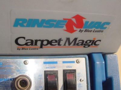 Blue Lustre Rinsenvac Carpet Magic Commercial Carpet