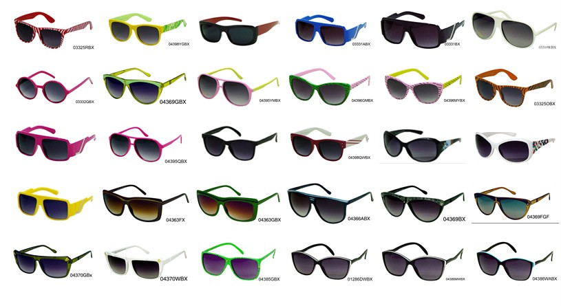Sunglasses Styles  100 pairs mens womens kids fashion sunglasses bulk lots clearance