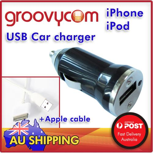 5V 700mA,USB Car Charger and apple  Apple USB Data Cable for iPhone 3, iPhone 4, 4G, 4S, iPod