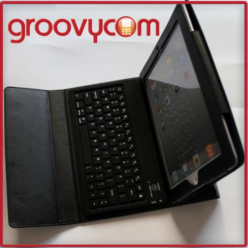 new ipad/ipad2/ipad3 leather case & wireless keyboard