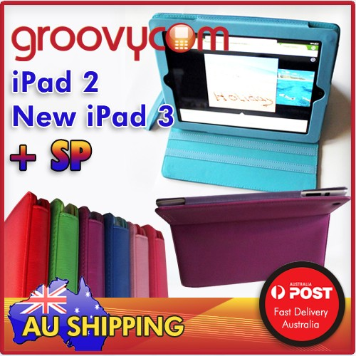ipad 2 new ipad 3 bright colours case stand zipper