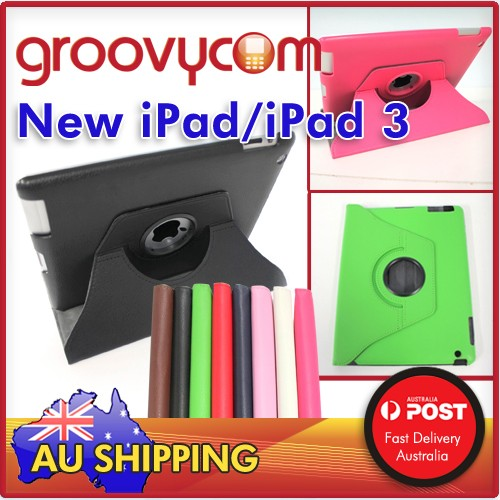 iPad 2 new iPad3 PU leather 360 rotate case