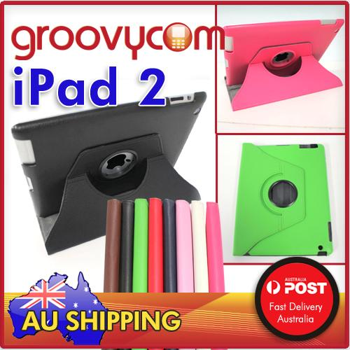 iPad 2  PU leather 360 rotate case