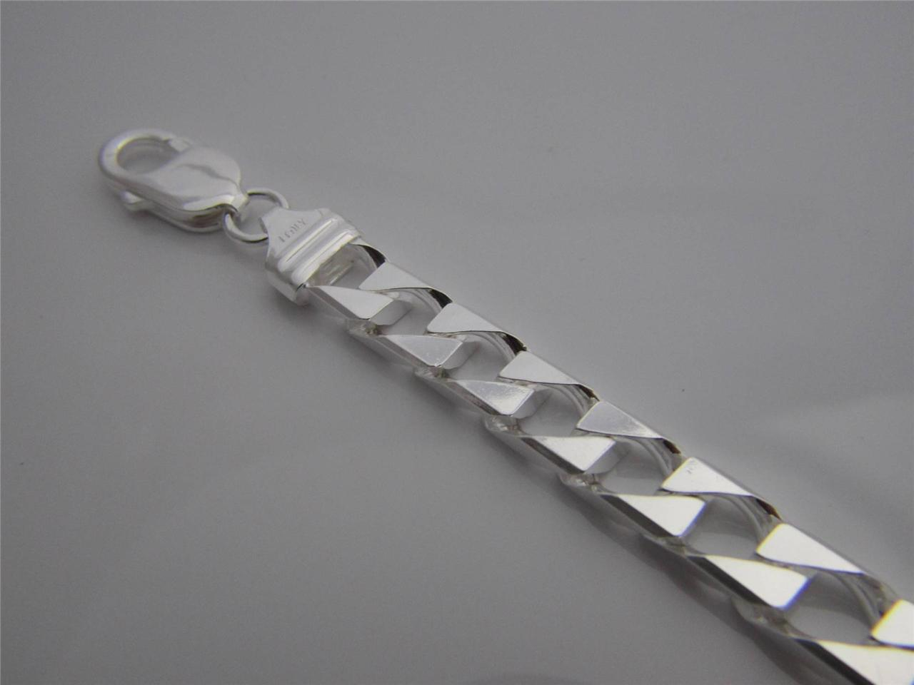 925 Sterling Silver Men S Italian Cuban Curb Link Chain