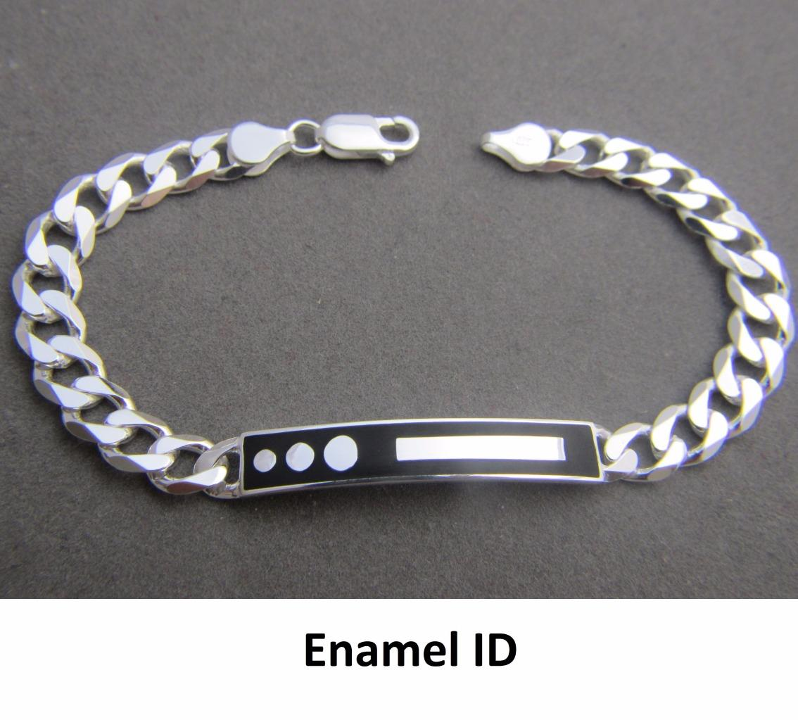Solid 925 Sterling Silver Mens ID Bracelet **Many Designs ...