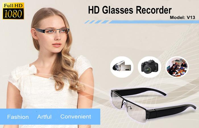 1080p Clear Fashion Glasses Camera fashionable design glasses