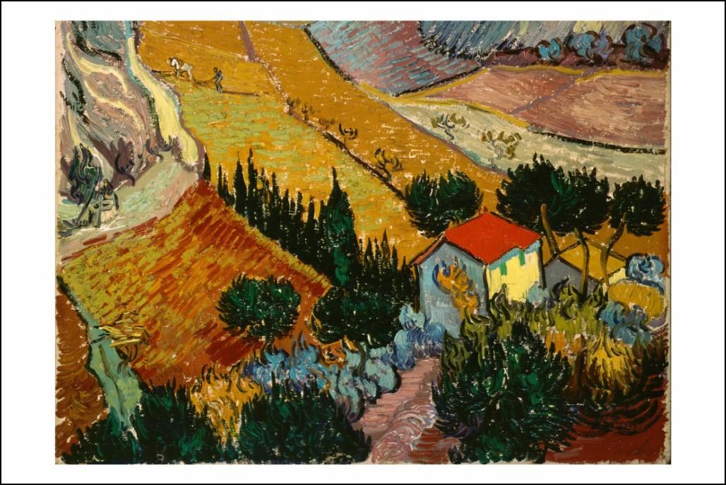 Poster affiche peinture vincent van gogh paysage neuf ebay - Poster peinture ...