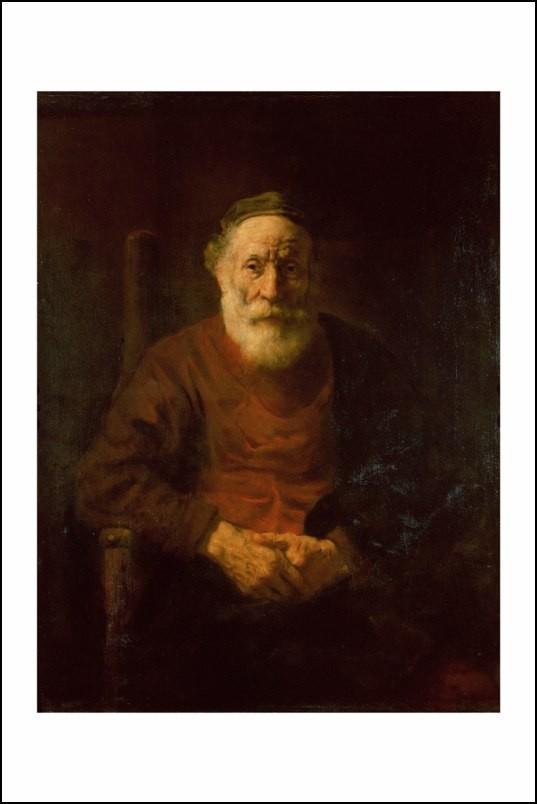Poster affiche peinture rembrandt portrait d 39 un vieil - Poster peinture ...