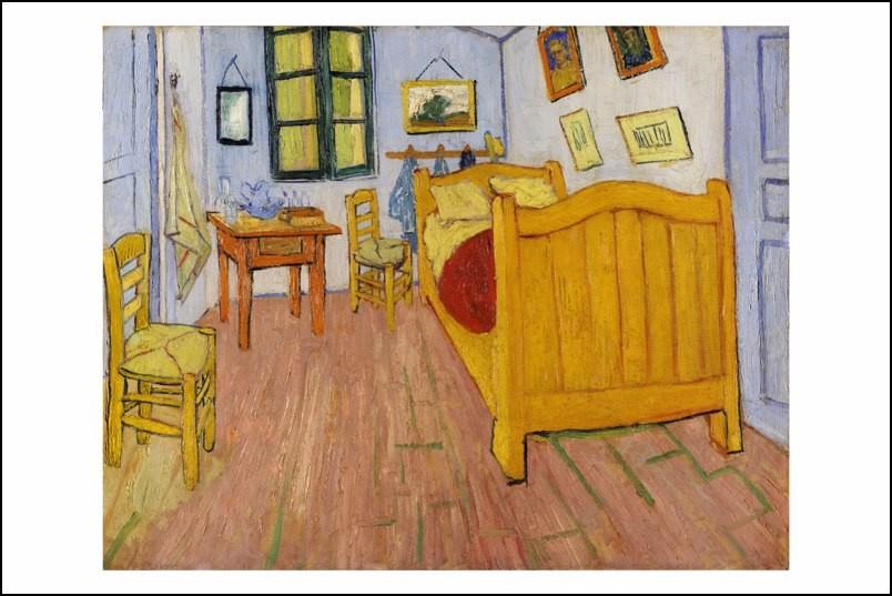 Poster affiche peinture vincent van gogh la chambre arles neuf ebay for La chambre jaune a arles van gogh