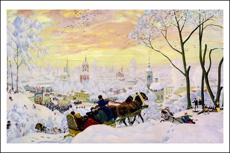 Poster affiche peinture russe boris koustodiev carnaval - Poster peinture ...