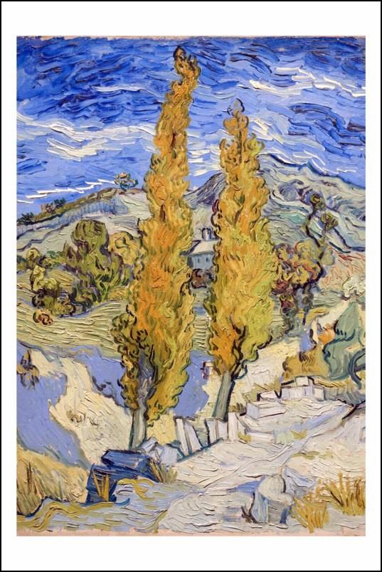 Poster affiche peinture van gogh deux peupliers arles 1889 - Poster peinture ...