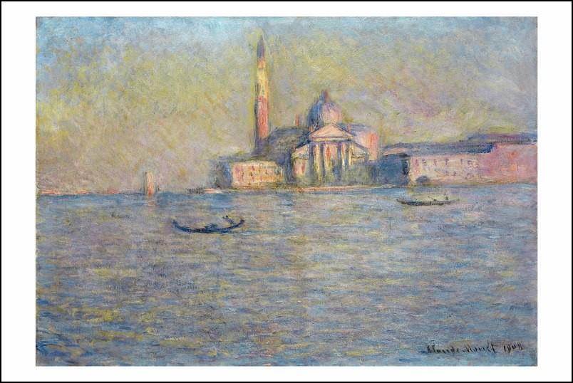 Poster affiche peinture claude monet vue de venise 1908 - Poster peinture ...