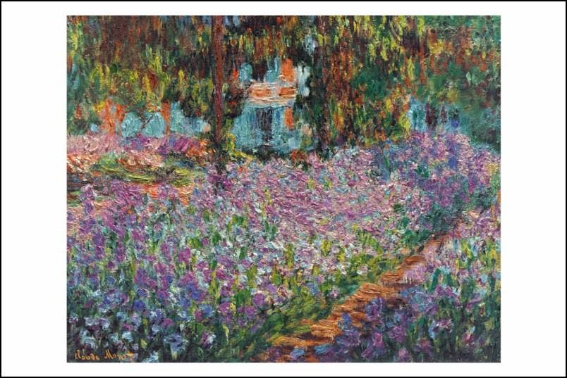 Poster affiche peinture claude monet champs de fleurs neuf - Poster peinture ...