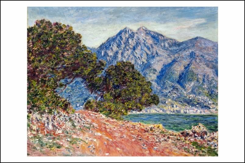 Poster/Affiche. Peinture. Claude Monet. Montagnes, Italie. 1884. Neuf.