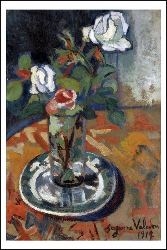 Poster affiche peinture suzanne valadon vase avec fleurs - Poster peinture ...