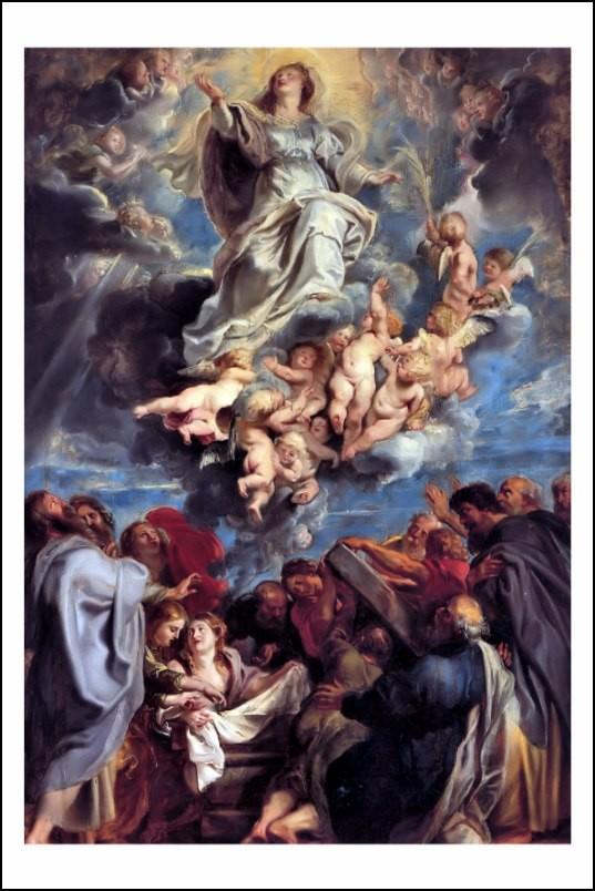 Poster affiche peinture rubens l 39 assomption de la vierge - Poster peinture ...