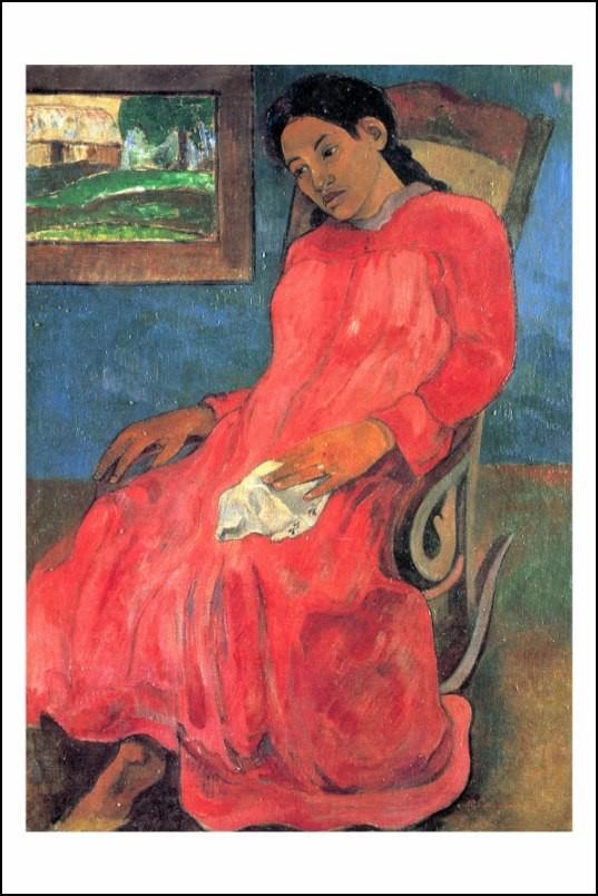 Poster affiche peinture paul gauguin faaturuma tahiti 1891 - Poster peinture ...