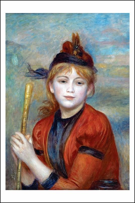 Poster affiche peinture pierre auguste renoir portrait - Poster peinture ...