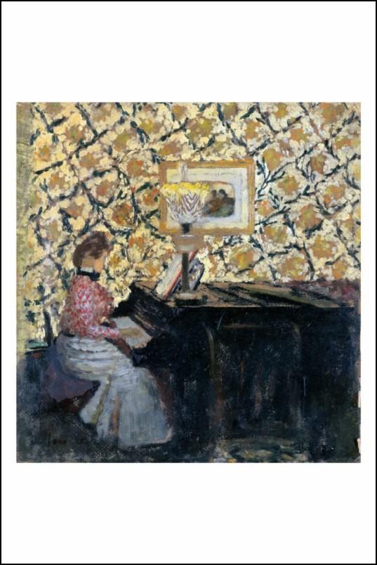 Poster affiche peinture edouard vuillard au piano neuf ebay - Poster peinture ...