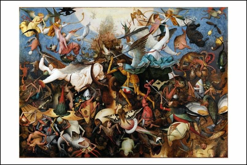 Poster affiche peinture pieter bruegel l 39 ancien chute des - Poster peinture ...