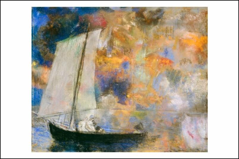 Poster affiche peinture odilon redon nuages fleuris 1903 - Poster peinture ...