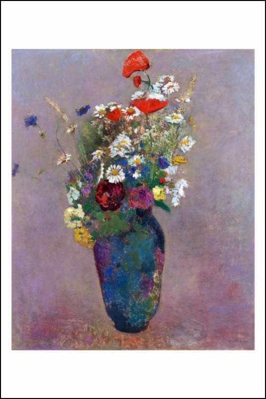 Poster affiche peinture odilon redon vase de fleurs 1900 - Poster peinture ...