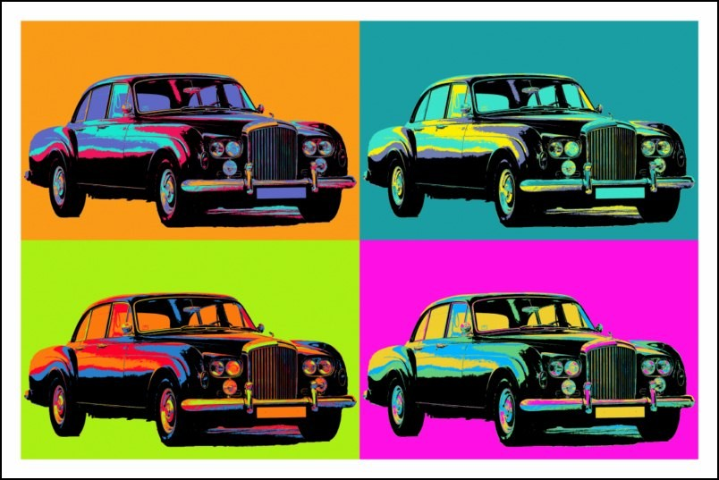 poster affiche pop art voiture rolls royce ancienne style warhol neuf ebay. Black Bedroom Furniture Sets. Home Design Ideas