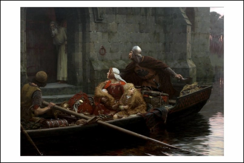 Poster affiche peinture edmund blair leighton in time for Poster contemporain
