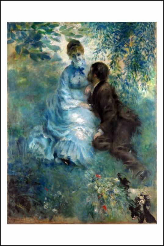 Poster affiche peinture renoir couple d 39 amoureux 1875 neuf - Poster peinture ...